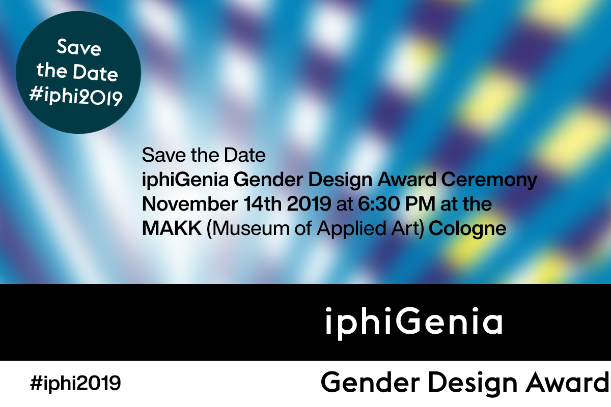 save the date iphiGenia Gender Design Award